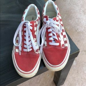 Vans red checkered sneakers